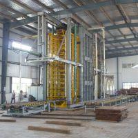 供应人造板成套机械设备青岛国森专利-重竹集成材压机设备
