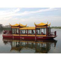 供应30座仿古画舫船 农庄餐饮船 景区观光船服务类船