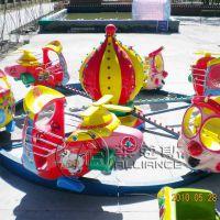 供应郑州莱恩斯新款直径6米旋转类儿童游乐设备飞车竞赛