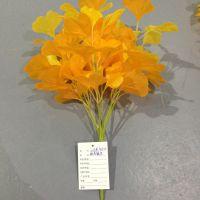 仿真树叶秋色银杏叶假花艺创意绿植墙面装饰diy手工工艺品婚庆用