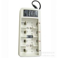 劲牛多功能标准充电器5号/7号/9V/1号/2号电池充电器KN-7521