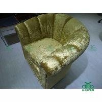 欧式布艺沙发单人沙发酒店咖啡馆餐椅绒布布单人高档餐桌椅家具直销