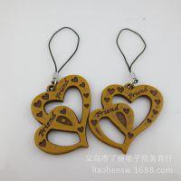 厂家生产厂家代理散装装饰挂件LH手机挂件创意小礼物赠品双心礼品