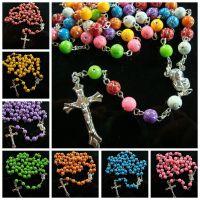 义乌念珠批发 Rosary甜蜜塑料珠十字架念珠基督教念珠速卖通热销