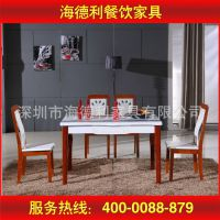 厂家定做家具 现代客厅厨房实木餐桌椅家具 象牙白圆餐桌