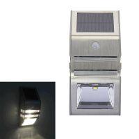 不锈钢太阳能人体感应灯红外感应灯 太阳能 庭院灯户外灯壁灯LED
