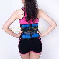 供应保暖蓝黑护腰围固定带 专业运动健身护腰带外贸热销固定带