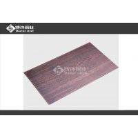 家居不锈钢门板【红古铜木纹】 304不锈钢拉丝蚀刻板