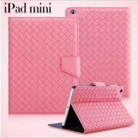 厂家直销 新款纯手工编织ipad mini1/2商务皮套 手机套 手机壳