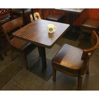 供应麦德嘉星巴克实木复古咖啡餐桌椅子 定做星巴克咖啡桌椅子