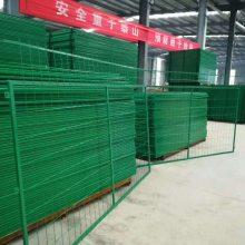 榆林公路防护框架护栏网|绿色2米高焊接护栏网活动促销价|陕西隔离铁丝网全国发货