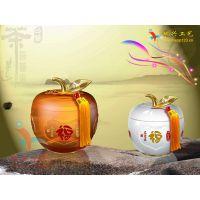 琉璃摆件 高档琉璃茶叶罐商务礼品定制摆件送老师领导老人礼物创意纪念品 可定制内容