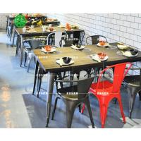 定制复古主题餐厅火锅桌 主题火锅桌 欧式时尚工业风餐桌 多多乐家具