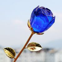 高档浪漫水晶玫瑰 求婚创意用品礼品送老婆送情人 厂家批发W