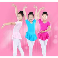 儿童舞蹈服装 练功服 少儿体操服 芭蕾舞蹈裙连体女童短袖考级服