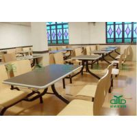 运达来供应快餐厅连体桌椅 肯德基分体板式餐桌 款式颜色随心定制