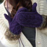SNN-1011 秋冬韩国可爱女士冬季加厚保暖毛毛挂脖毛线手套
