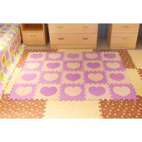 明德地垫 宝宝爬行垫 心形拼图 EVA拼接垫铺地板垫子居家 游戏垫