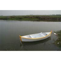 庆荣木业供应欧式手划船情侣观光船仿古木船钓鱼船双桨木船