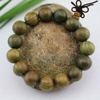 绿檀手串1.5cm15颗  天然保平安佛珠手链