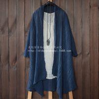 cxy150413095 2015年棉麻文艺森林系褶皱麻防晒开衫外套