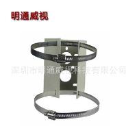 抱箍支架 专用立柱安装支架 电线杆支架 监控球机摄像头支架