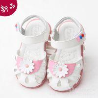 2015新款女宝宝凉鞋1-3岁公主鞋真皮软底女童鞋厂家直销质量保证
