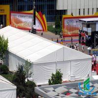 展览展会帐篷 大型户外活动篷房 搭建尖白色顶篷房帐篷篷房出租