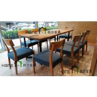 上海冰淇淋店桌椅定制 简约现代桌椅定做 上海韩尔家具厂