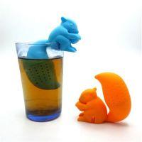 创意松鼠硅胶泡茶器 茶叶过滤器 硅胶茶漏