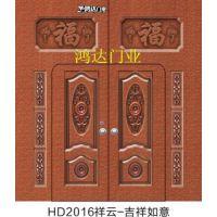 供应鸿达门业2016新款镀锌门、方格门、大铁门、祥云门、庭院门、金属门