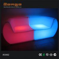 广州本色 欧式 LED发光酒吧家具沙发组合 时尚PE塑料七彩椅子