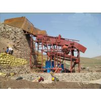 新疆大产量沙金选取设备,溜槽选金设备,震动筛选金设备