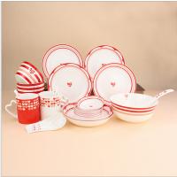 创意骨瓷餐具套装 情侣陶瓷碗盘勺碟套装定制LOGO餐具批发