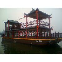 厂家直销铁船底画舫船 水上餐饮木船 观光旅游船 客船出售