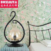 波西米亚复古台灯铁艺灯 卧室书房台灯 餐厅床头灯具 0904