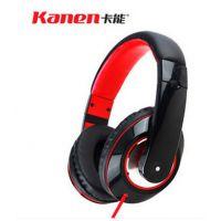 kanen/卡能 IP-780电脑头戴式线控手机耳机带话单孔手机语音耳麦