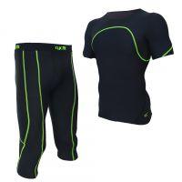 供应2015新款男式紧身服套装户外室内健身服吸湿排汗快干运动套装