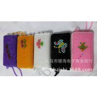 珍珠双拉 手提女式珠包 民族工艺钱包 手工串珠包 厂家直销珍珠包