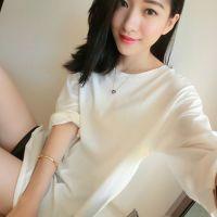 2015春装女新款小宜韩版宽松百搭纯色打底衫长袖长款T恤厂家直销