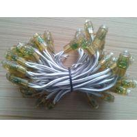 供应 厂家直销 发光字灯串 LED穿孔灯 LED外露灯串 LED9MM平头 外露 灯串