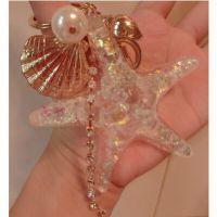 海洋风 贝壳 海星 海螺 流苏 珍珠 钥匙扣 包挂 钥匙链 挂件 车挂