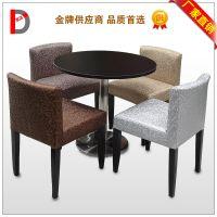 低靠背欧式皮质餐椅酒店椅子软包沙发椅餐厅咖啡厅矮背椅厂家直销