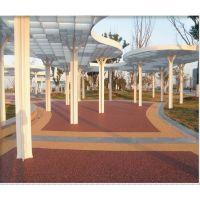 透气性、保水性、通气性,容重小并保留混凝土强度高透水混凝土地坪