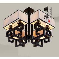 现代中式吸顶灯 客厅中式铁艺吸顶灯 中式酒店铁艺吸顶灯