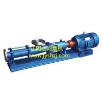 供应G型螺杆泵:污泥泵、压滤机进料泵、污水泵、化工泵、纸浆泵。