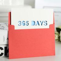 韩国创意365days精致祝福贺卡信封生日卡片 diy贺卡 礼物礼品