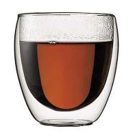 bodum玻璃双层杯蛋形杯啤酒杯果汁杯咖啡杯l防烫手