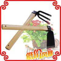 花园工具  长柄宽锄  长柄耙子/木柄锄头挖掘土地专用锄头