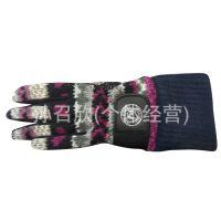 冬款 防水手套 男士加厚保暖 时尚防寒针织骑车摩托车手套